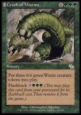 MTG 4x CRUSH OF WURMS - Judgment *Rare Flashback Token*