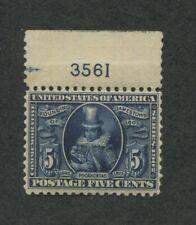 1907 United States Postage Stamp #330 Mint Never Hinged Plate No. 3561 OG