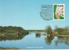 1986 Aland card Landscapes/ 100th Anniversary Oslo Philately Club