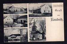 109276 AK Raudnitz um 1930 Spillers Gasthaus Schloß Kath. Kirche Dorfansicht