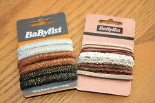 BABYLISS Hair Bobbles Elastics 2 x Packs - Browns and Creams - BARGAIN