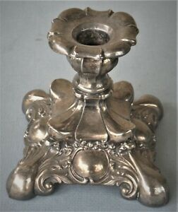"VINTAGE ""WM A ROGERS"" SILVER PLATE CANDLESTICK/HOLDER ART NOVEAU LATE 1800's"