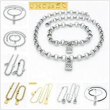 Fashion Brand Uno de 50 Jewelry Unisex Steel Link Chain Bracelet Necklace Sets