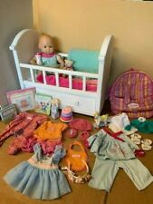 American Girl Doll Bitty Baby Lot Crib Carrier Backpack Toys Clothes Accessories