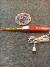 Vintage Gillette Curling Iron Super Curl Styler Wet Dry Supercurl Orange