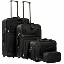 TecTake Maleta de Travel - Negro (Set de 4) (402152)