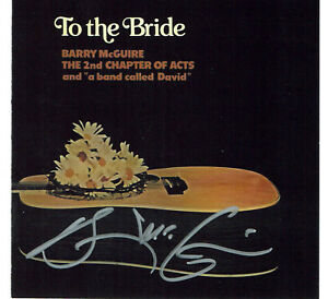 BARRY MCGUIRE'S STORE - TO THE BRIDE  DOUBLE CD NEW - AUTOGRAPHED BY BARRY