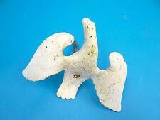 Antik Metall Bronze Bemalten Weiß Adler Ende Stück Dekorativ Mitteldecke Figur