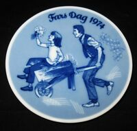 """Porsgrunds, Norway, 1974 Father's Day Plate, Limited Edition, 5"""""""