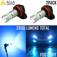 Alla Lighting 72-LED H11 Driving Fog Light Bulb Replacement Cool Ice Blue 8000K