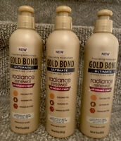 Gold Bond Ultimate Hydrating Oil Infused Cream Radiance Renewal,10 OZ., Lot Of 3