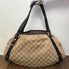 Pre Owned Authentic GUCCI GG Canvas Hobo Shoulder Bag