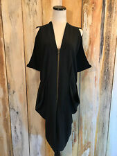 Future Classics Dress Black Silk Avant Garde Art to Wear Zip $1200 sz 10 EUC!