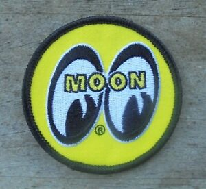 """MOON EYES RACING EQUIPMENT IRON ON CLOTH PATCH 2 7/8"""""""