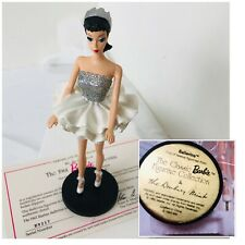 The 1961 Barbie Ballerina Figurine On Stand Danbury Mint Collection Coa E9217