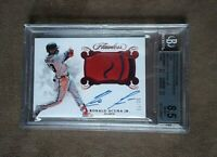 2018 Flawless Ronald Acuna Ruby Material Patch Auto 11/20 BGS 8.5 NM~MT+ 10 Auto