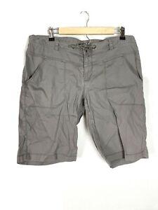 North Face Gray Brown Bermuda Hiking Shorts, Size 14