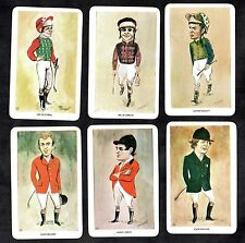 Famous Jockeys Horse Riders Cards 1980 Sport Carson O'Neill Piggot Smith Broome