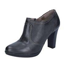 scarpe donna MARIKA MILANO 37 EU tronchetti nero pelle BS60-37