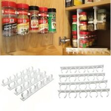 4 Sets Kitchen Clip Spice Gripper Jar Rack Storage Holder Wall Cabinet Door HOT