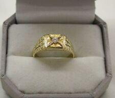 14 Carat Yellow Gold Signet Rings for Men