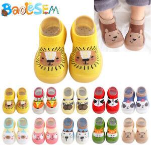 Girls Boys Baby Toddler Kids Anti-slip Crawling Warm Socks Shoes Slipper Boots