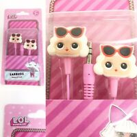 LOL Surprise Earbuds Head Ear Phones Pink Blonde Girl Age 3+ Stocking Filler