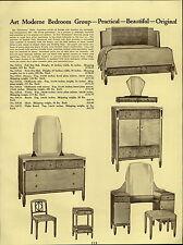 1937 PAPER AD Queen Anne Bedroom Furniture Suite Art Moderne The Frontenac