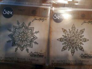 Sizzix Thinlits Dies.2 Sets  schneeflocken - Flurry #1& 4 Tim Holtz.eiskristalle