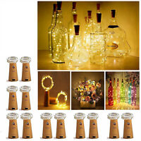 1-24 tlg 10/20 LED Flaschenlicht Lichterkette Weinflasche Weihnachten Nachlicht
