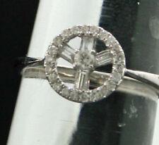 Runde Echtschmuck im Cluster-Stil mit Diamant-Ringe