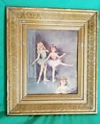 Vintage 1940's Lithograph Prints Ballerinas Florence Kroger 10 x 12 At The Barre