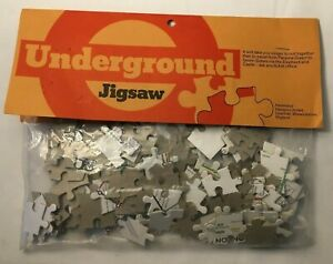 Vintage Jigsaw Puzzle: London Underground Tube Map Complete - 1974 Hammoco