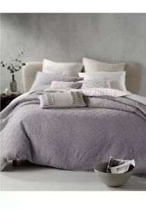 Hotel Collection Gray Connection King Duvet Cover+ Two Standard Shams!