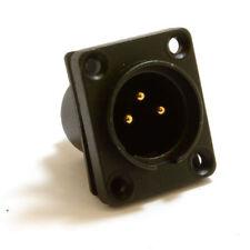 3 Pin XLR Microphone Chasis Panel Mount Solder Terminal Socket & Seal [007619]