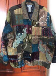 Ladies Indigo Moon Patchwork Tapestry Jacket