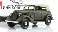 Scale model car 1:43, GAZ-61-40 with tent, khaki 1941