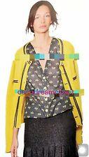 NWT CHANEL 12C FLORAL GRIPOIX JEWELED COTTON BLOUSE TOP SIZE 34