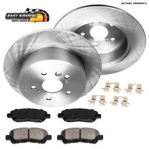 For 2008 2009 2010 2011 - 2013 Toyota Highlander Rear Brake Rotors Ceramic Pads