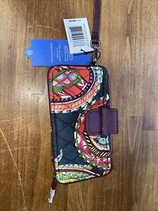 NEW Vera Bradley Heirloom Paisley RFID Smartphone Wristlet / Wallet NWT $54