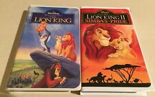 """👋L👀 K: Disney""""The Lion King""""Masterpiece Collection'95 VHS 2977+""""Lion King II"""""""