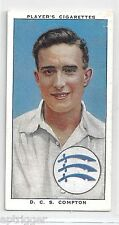 1938 John Player & Sons (4) D. C. S. COMPTON Middlesex & England