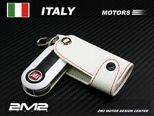 Leather Keyfob Holder Case Chain Cover FIT FOR FIAT Bravo QUBO IDEA