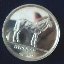 LARGE HEAVY Silver Horse / Racehorse Medal The Sport Of Kings 1974   Hyperion