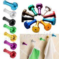 Aluminum Wall Single Hook Jewelry Robe Clothes Bags Keys Bath Hanger Holder Rack