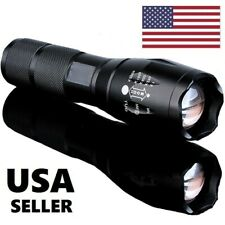 Tactical Police 9000000Lumens T6 5Modes LED Flashlight Torch Light Lamp Zoomable