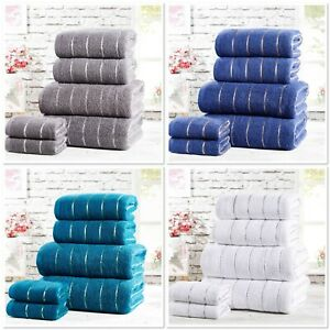 "Rapport 100% Cotton ""Sandringham"" Bathroom 6pc Towel Bundle 4 Colours Available"