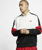 Nike NSW Air Jacket Logo Top Mens Hoodie White Size M Casual Half Zip Pullover