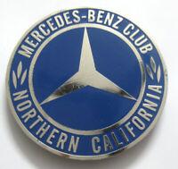 CAR BADGE -MERCEDES BENZ CLUB NORTHERN CALIFORNIA CAR  GRILL BADGE EMBLEM