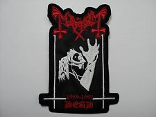 MAYHEM DEAD  SHAPED       EMBROIDERED PATCH